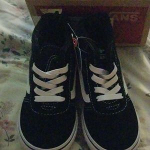 Black high top vans size 6m